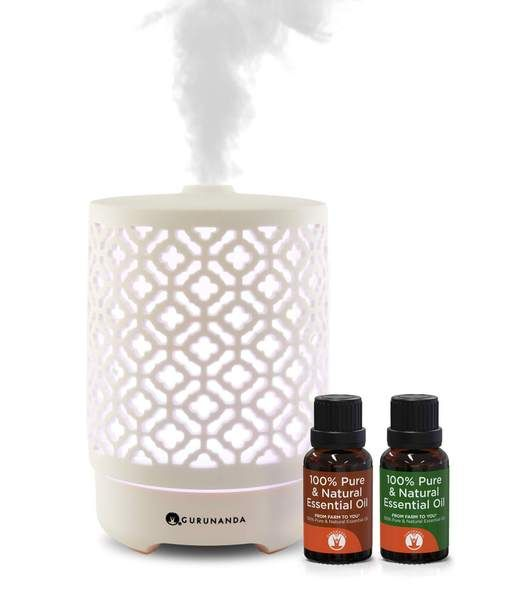 Taj Diffuser 2 Oils Ultrasonic Essential Oil Diffuser Gurunanda Essential Oils For Babies Essential Oils Essential Oil Diffuser