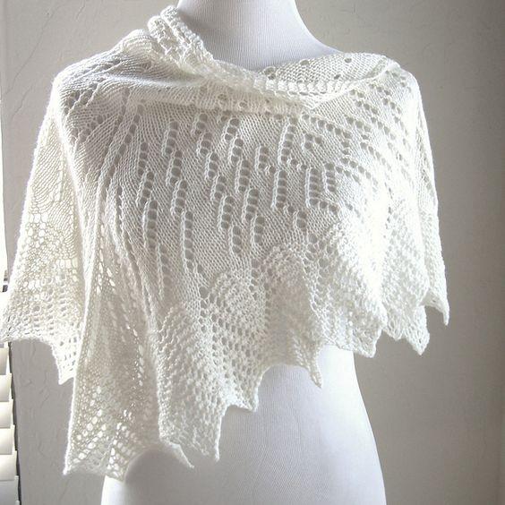 Uhura Shawl By MMario - Free Knitted Pattern - (ravelry) Shawl Pinterest ...