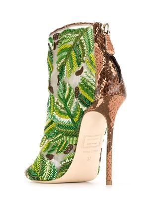 Dsquared2 embroidered boots