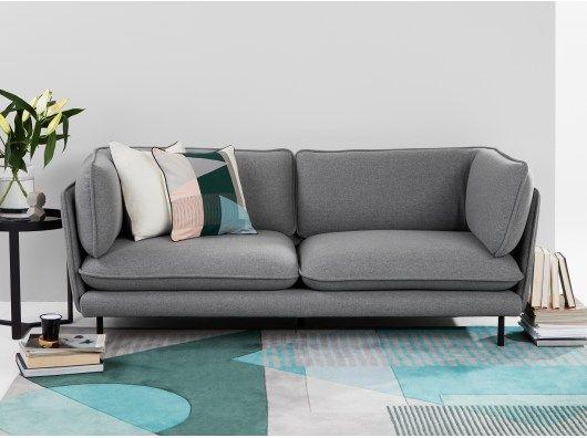 Wes 3 Sitzer Sofa Grau 3 Sitzer Sofa Sofa Design Sofa
