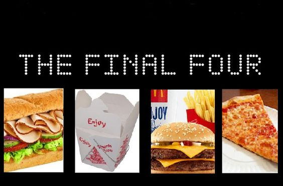 The Take-Out Take-Down Final Four - 0000000March Madness continues in to the semifinal round of the Take-Out Take-Down.  #MarchMadness #FinalFour Which food will reign supreme? Chinese food? Pizza? Hamburgers? Sandwiches and Subs??  YOU tell us!   0000000 - http://www.thechinesequest.com/2016/03/take-out-take-down-final-four/