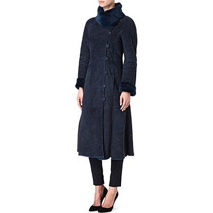 Coats Shearling coat and Navy on Pinterest