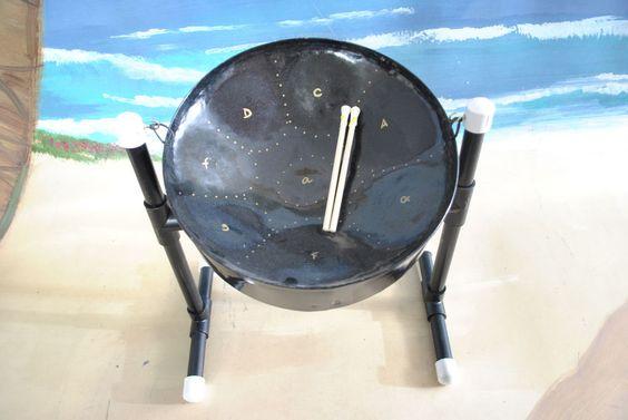 Mini Meditation Steel Drum with Sticks & Stand
