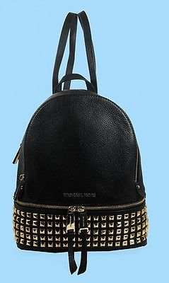MICHAEL KORS RHEA Black Leather SM Studded Backpack Msrp $358 FREE SHIPPING https://t.co/ofaacSwfKK https://t.co/xyKXIlm4I5