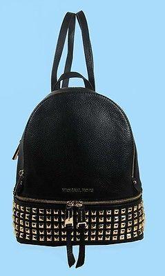MICHAEL KORS RHEA Black Leather SM Studded Backpack Msrp $358 FREE SHIPPING https://t.co/ofaacSwfKK https://t.co/xyKXIlm4I5