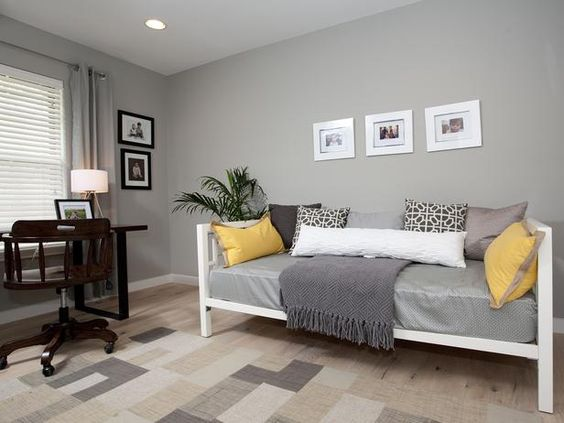 home office with daybed and rug designers 39 portfolio hgtv home