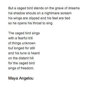 an introduction to the i know why the caged bird sings I know why the caged bird sings is a 1969 autobiography describing the early  years of american writer and poet maya angelou the first in a seven-volume.