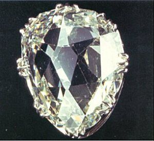 "SANCY DIAMOND"" , 55.23 carats , orgin in INDIA , The Sancy now rests in the Apollo Gallery"