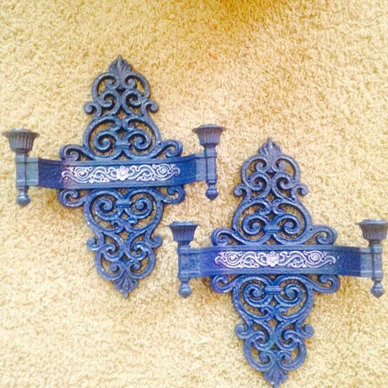 Up Scaled twin dual candle wall sconces