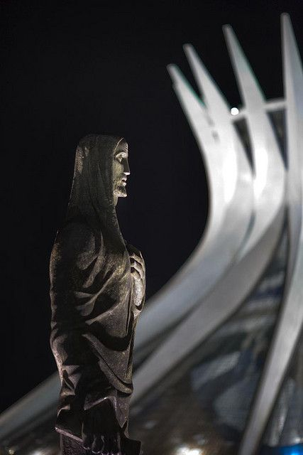 Brasilia, Brazil: National Cathedral at Night by babasteve, via Flickr