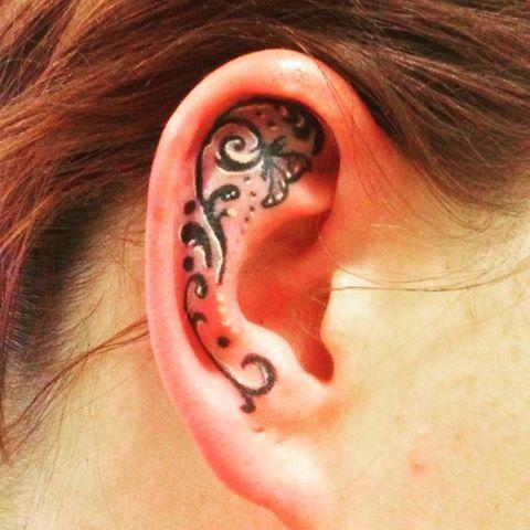 50 Tiny And Cute Ear Tattoos Designs And Ideas 2019 Page 10 Of 20 Pinningfashionpinningfashion Tattoos Ear Tattoo Beautiful Tattoos