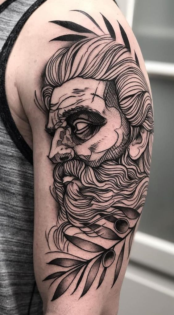 Pin By Lewis Flanders On Tattoo Mythology Tattoos Sketch Style