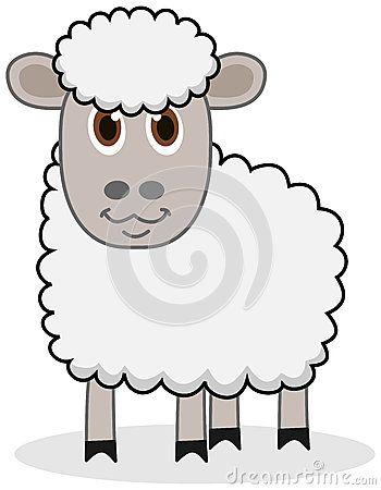 Um carneiro branco com olhos bonitos