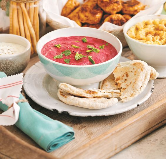 Speedy Beetroot Dip and Pitta RecipeMade Peachy