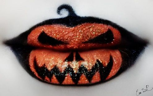 Check out these crazy Halloween lip art designs!