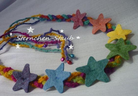 Zauberhafte Regenbogen Sternen-Krone von ☆Sternchen-Staub☆ auf DaWanda.com