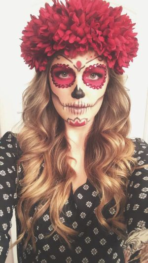 Sugar Skull Halloween Makeup: