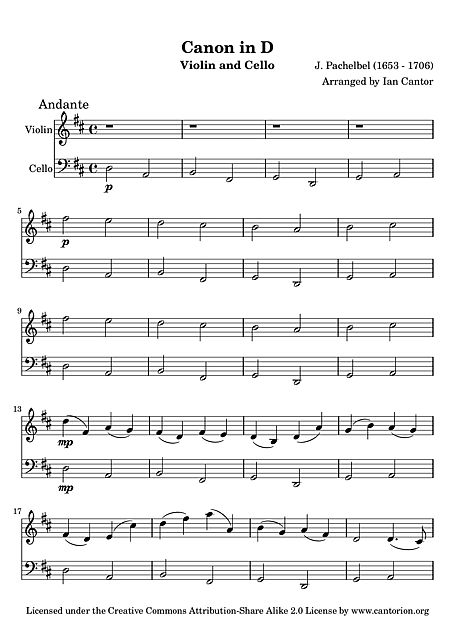 cello canon in d sheet music - Google Search Note Pinterest