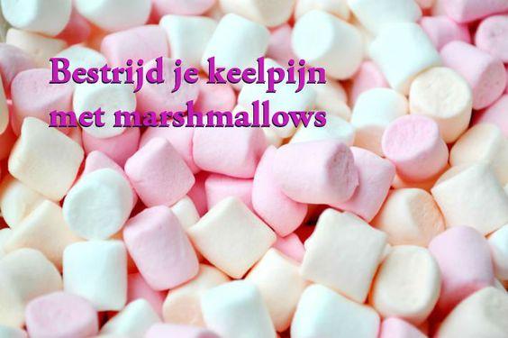 Keelpijn? Eet een marshmallow!