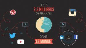 DATA RESEAUX SOCIAUX 2013 by http://www.2factory.com - Deux milliards d'internautes dans le monde, dont 45 millions en France… Une fréquentation qui s'accroit avec le nombre de réseaux sociaux.Nous reprenons ici dans une infographie vidéo les principales statistiques de fréquentation des réseaux sociaux Facebook, Twitter, Flikr…Un film 2D constitué d'infographies et d'illustrations vectorielles animées.