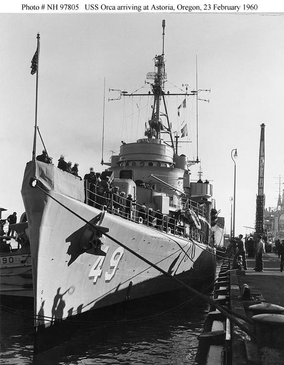 USS Orca (AVP-49) was a US Navy seaplane tender in commission from 1944-1960. She saw service during the latter stages of WWII and Co… | Us navy ships, Warship, Usn