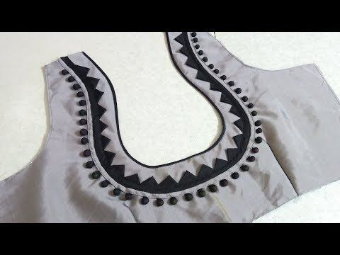 Easy Blouse Back Neck Designing At Home Womens Fashion Blouses Youtube Back Neck Designs Latest Blouse Neck Designs Women Blouses Fashion