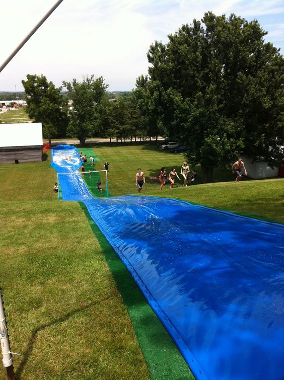 I think the thing that I miss about our other house is the huge hill for slip n slide in the summer. Now we don't have a hill :( I want a big hill when we move again.