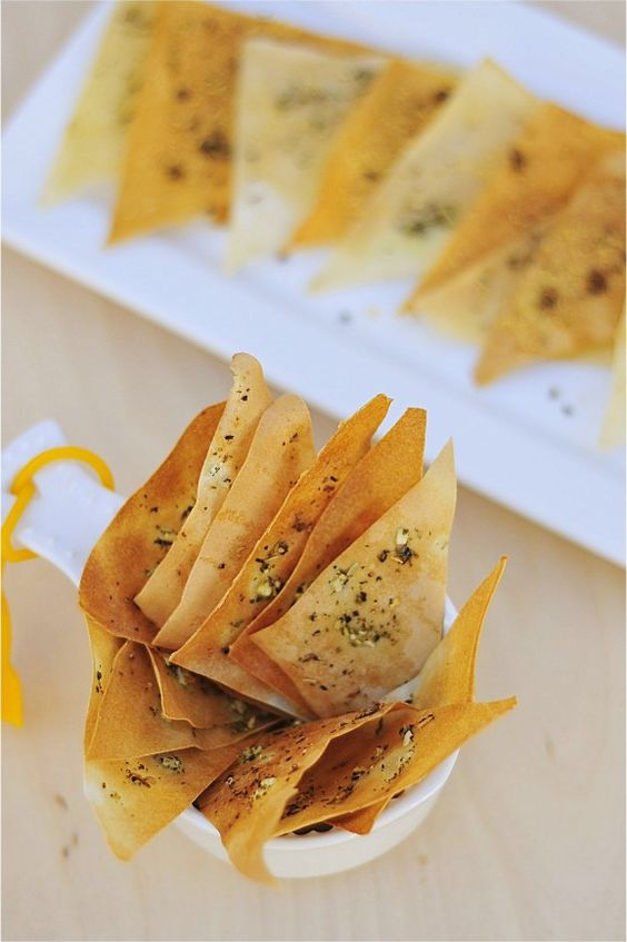 Baked Wonton Chips baked wonton /spring roll wrapper parmesan chips ...