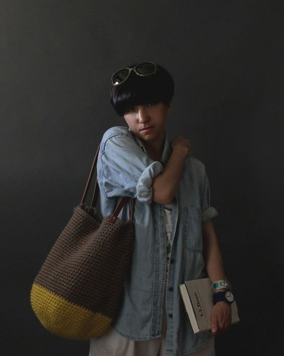 Yokoo: The Cottage Tote in Citron and Taupe