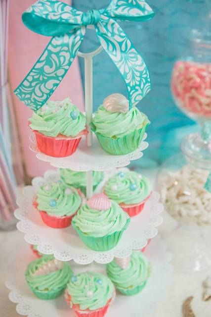 vintage mermaid baby shower party ideas mint green baby shower