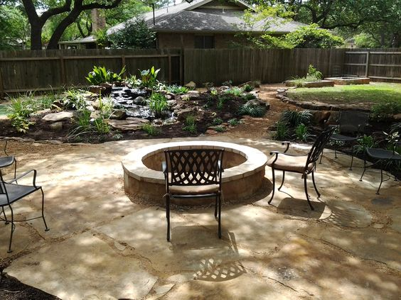 Oklahoma Flagstone Patio Set In Decomposed Granite With