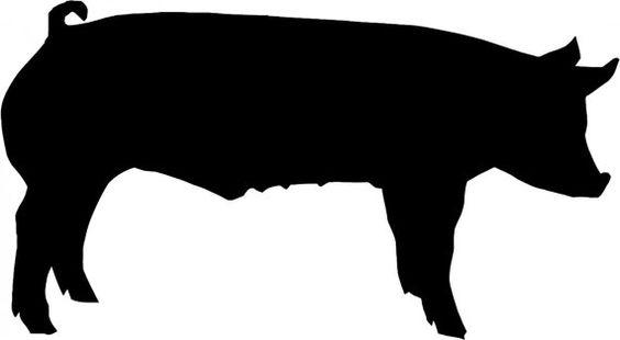 Farm Pig Stencil Wall Wood Sign Crafts by Jennastencils on Etsy