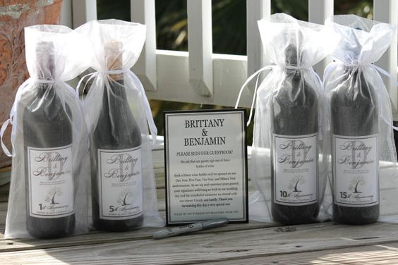 Wine Bottle Wedding Guest Book Kit Gift Boxed by SugarVineArt ...