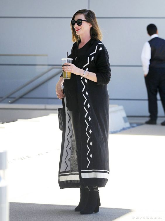 Pin for Later: Anne Hathaway Was Totally the Queen of the Maternity Maxi: