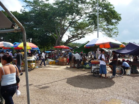 At the Saturday #Farmer'sMarket in San Ignacio Town you will find Veggie vendors selling fresh, tropical produce, craft producers selling their art, hawkers selling pirate DVDs, and Mennonites selling honey and puppies, are set up next to Taiwanese immigrants selling special teas and treats, Salvadorean women grilling delicious pupusas, and Maya selling unique herbs and spices. The lively mix of people and items for sale truly embody the blended and diverse culture of #Belize.