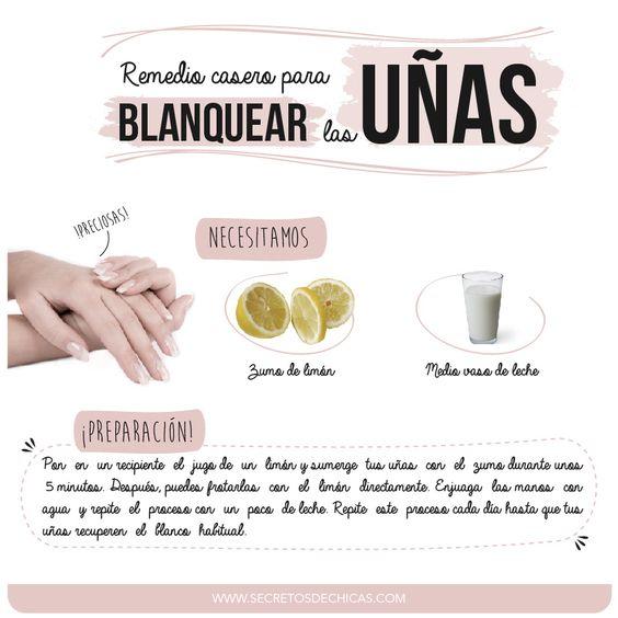 Remedio casero para blanquear las uñas