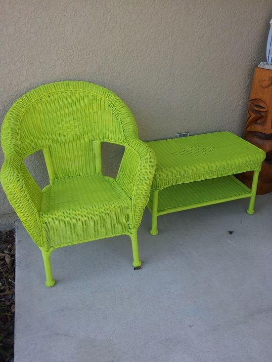 Painted wicker furniture paint something tired of your - Wicker furniture paint colors ...