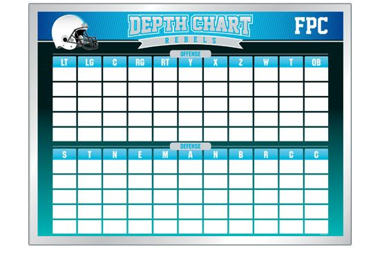 Curious Printable Football Depth Chart Template Nfl Depth Charts Blank Depth Chart For Football American Football Depth Chart Football Template Football Roster