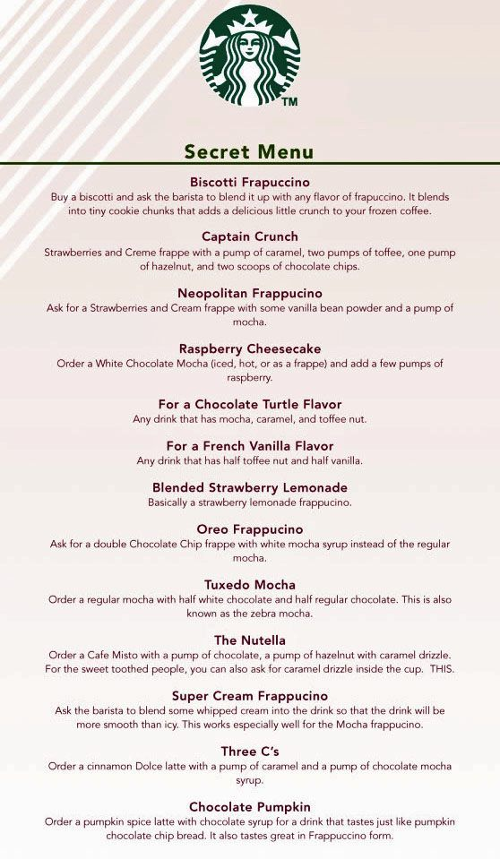 Bien connu starbucks secret menu <3 | Thirst Quenchers | Pinterest | Secret  EE64