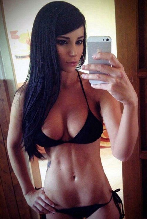 Hairy busty fitness babe