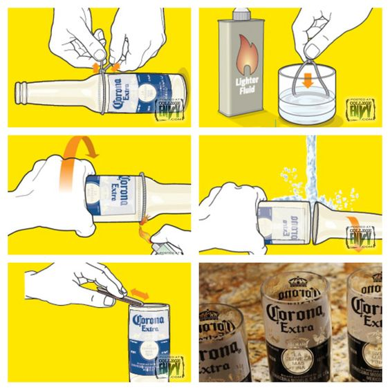 How to make glasses out of beer bottles crafty for Make glasses out of bottles