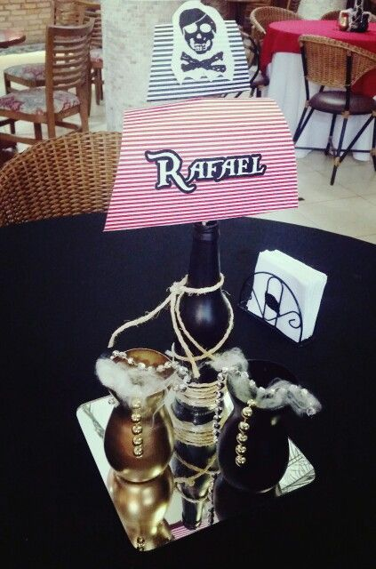 Arranjos de mesa tema pirata