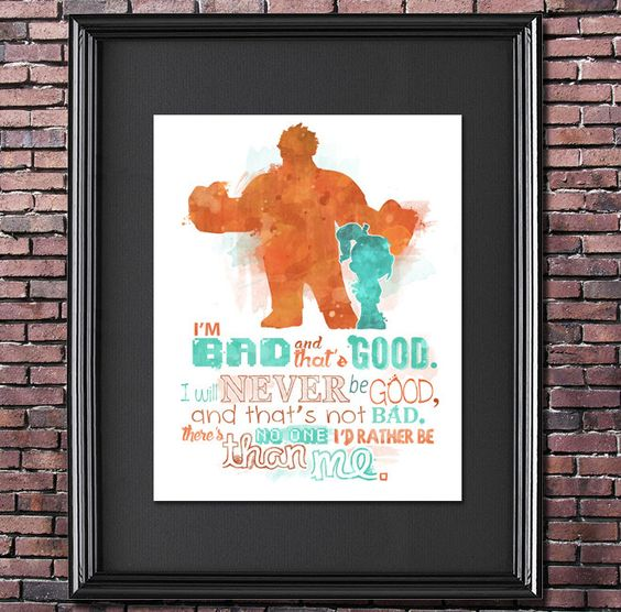 Wreck-It Ralph 8x10 Poster - DIGITAL DOWNLOAD / Instant Download by LittoBittoEverything on Etsy https://www.etsy.com/listing/225155935/wreck-it-ralph-8x10-poster-digital