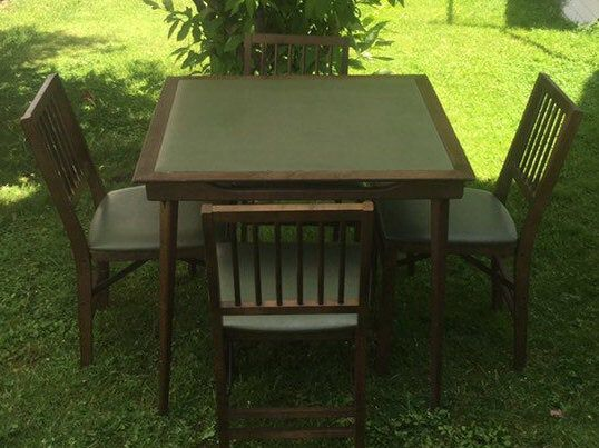 Mid Century Stakmore Folding Table True Mission Folding Card