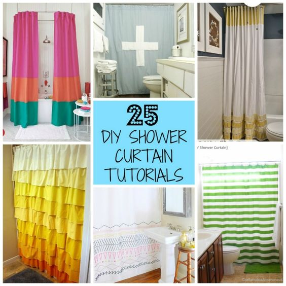 Bathroom Curtain Ideas Diy: Diy Shower, Curtain Tutorial And Shower Curtains On Pinterest