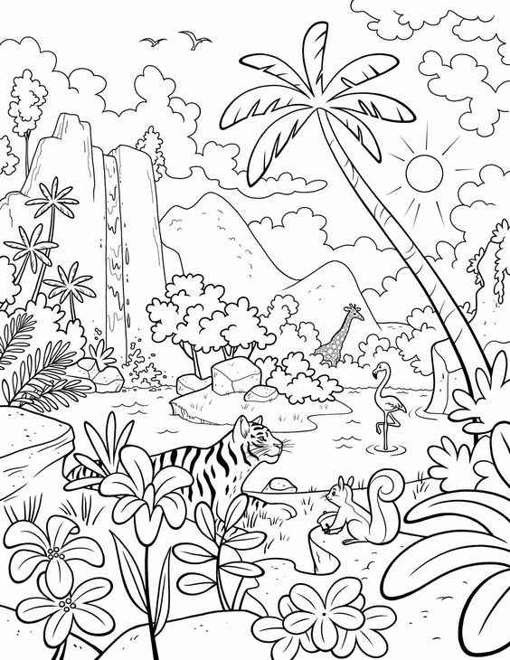 Paradise Coloring Pages