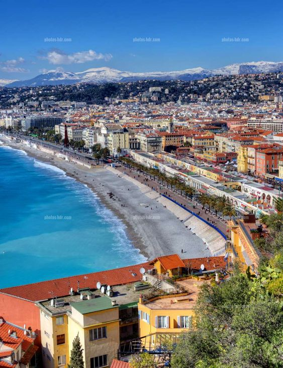 View of the Promenade des Anglais, Nice, France