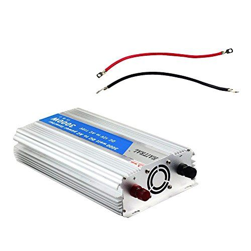 HAITRAL 3000 Watt Power Inverter 12 Volt DC to 110 Volt AC Voltage Car Adapter, Car Inverter,Automotive Back up Power Supply for Refrigerators, TV, Rechargeable Devices  3000W of output from any 12V DC Kit,Conversion efficiency: 93% Automatic shutdown protects overload, over temperature and low/high battery conditions True corrective wave output is ideal for operating motor loads, and to...