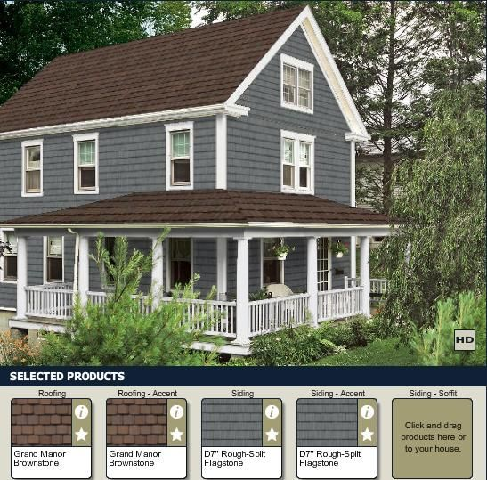 Playing with siding colors at for What color roof should i get for my house