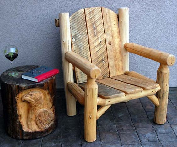 Log Furniture Logs And Furniture On Pinterest